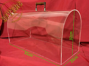 Perspex Crystal Clear Plexiglass Dome Lid SINGER Sewing Machine Case 15 201 66 $347.00