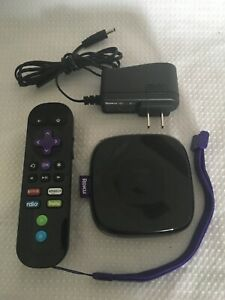Roku 3 (3rd Generation) Media Streamer 4200X - Black With Remote + Power Supply