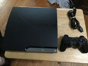 Sony PlayStation 3 PS3 320GB Slim Console + Dual Shock 3 Controller EXCELLENT