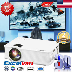 LED Projector Home Cinema Theater HDMIUSBSDAVVGA Multi-Media Players 2500LMs