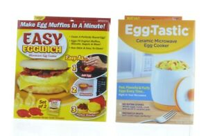 Eggwich & Egg Tastic Combo Microwave Egg Cooker, lot of 2 New cook As Seen on TV