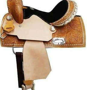 100% eco leather Western saddle best quality and manufacturing 17 inch good look