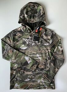 Under Armour Storm Boys Forest Camo Hoodie 1286119 945 Youth M L XL
