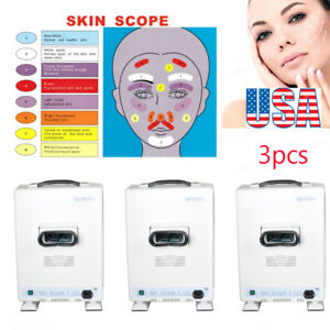 3*Protable Facial Skin Scope Scanner Analyzer Diagnosis Salon Skin beauty machin