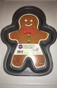 New Wilton Gingerbread Boy Pan Non Stick Holidays Cookies Cake Christmas