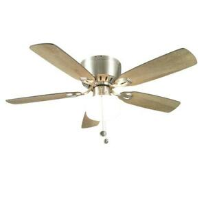 Universal Kennesaw 42 in. Indoor Brushed Nickel Ceiling Fan with Light