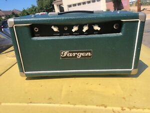 2004 Fargen Custom Jazz SP amp head dark green showman