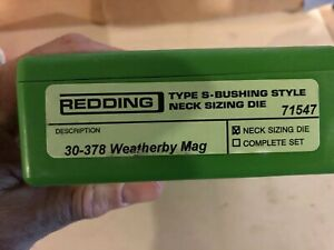 30-378 Weatherby Sizing Dies Redding Neck Size (Bushing) And Body Die