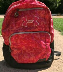 Under Armour Storm Girls Backpack Fluorescent Pink and Orange $30.99