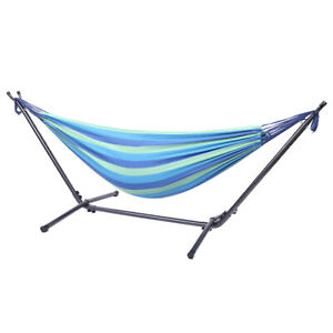 Portable Outdoor Hammock Set Camping Hanging Bed Swing with Stand