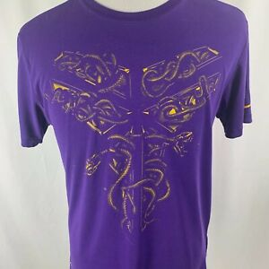 Nike Dri-Fit Kobe Bryant Black Mamba Purple Graphic T-Shirt Mens Medium M