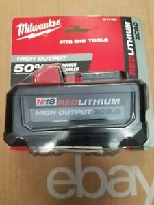 NEW!!! 48-11-1880 MILWAUKEE M18 HD XC8.0 BATTERY PACK   Free Shipping!!!!