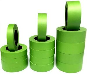 1 48 Rolls 1quot; 1.5quot; or 2quot; Frog Green Colored Painters Masking Tape Case Blem 2nd