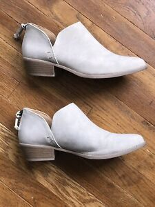 Qupid Womens Booties with back zipper Beige Suede Size 8.5 $10.00