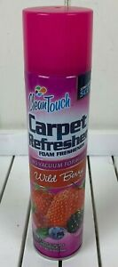 Clean Touch Carpet Refresher Wild Berry Foam No Vacuum Formula 10oz Discontinued