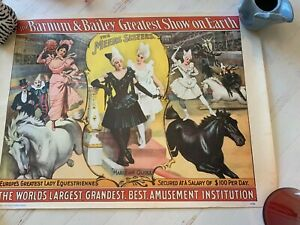 RINGLING BROTHERS BARNUM BAILEY CIRCUS POSTER VINTAGE 1960's $70.00