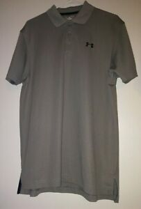 UNDER ARMOUR Heat Gear Mens Polo Shirt Loose Fit Gray Size M Preowned (2x LOT)