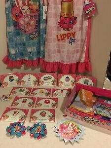 Shopkins Birthday Party Favors Food Tents Banner Photo Backdrop 2 New Nightgowns