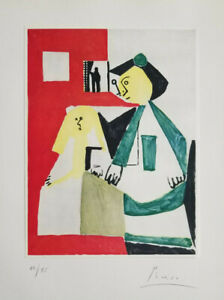 PABLO PICASSO HAND SIGNED AND NUMBERED 1964 HAND TIPPED PRINT WITH NO RESERVE !