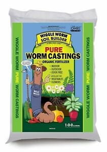 Wiggle Worm Soil Builder Earthworm Castings Organic Fertilizer 15 lb.