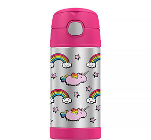 NEW Thermos FUNtainer Unicorns Water Bottle  - 12 OZ