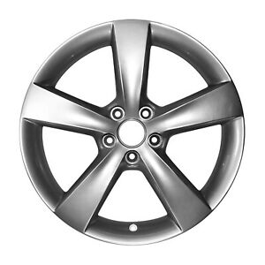 02479 Factory OEM 18X7.5 Alloy wheel Bright Silver Metallic Full Face Painted