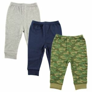 Luvable Friends Boy Toddler Tapered Ankle Pants 3 Pack Camo