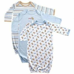 Luvable Friends Boy Sleep Gowns 3 Pack Blue Puppy