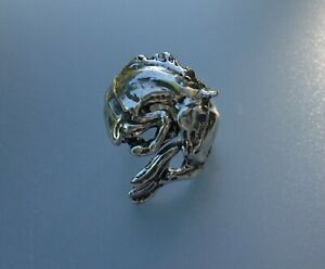 Jumping Horse Ring STERLING SILVER Zimmer Equestrian Jewelry