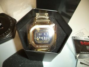 Casio G-Shock Gold Digital Mens Watch GMW B5000GD 9CR NEW IN BOX RECEIVED  GIFT