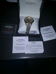 Rotary Automatic Skeleton mens watch BOXED AND DOCUMENTS