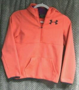 Girls Under Armour Hooded Sweatshirt Hoodie WITH STAINS size Youth Medium
