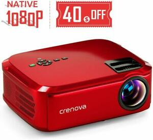 Crenova Projector Native 1080p Led Video 5500 Lux Hdmi W TV Stick New Free Ship