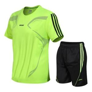 Men's Suits Quick Drying T-shirt+Shorts Fitness Sportswear Basketball Soccer Tra