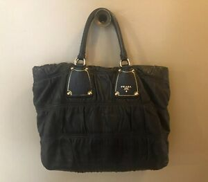 AUTHENTIC PREOWNED PRADA BLACK LEATHER HANDBAG