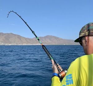 Saltwater Offshore Casting Rod 7#x27; 1PC 30 80 LB Saltwater Fishing Rod