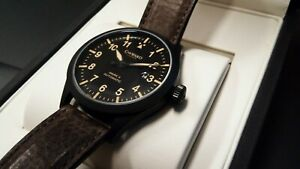 Christopher Ward C8 Pilot Old Logo PVD Mens Automatic Watch