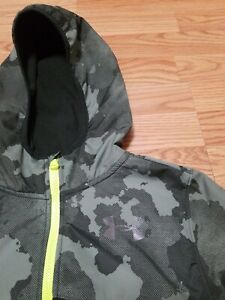 Under Armour North Rim Microfleece Printed  Boys Jacket Hoodie Youth Large Camo