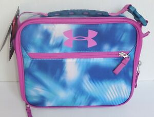Thermos Under Armour Insulated Lunch Box Bag Tote Blue Purple Girls New K491263