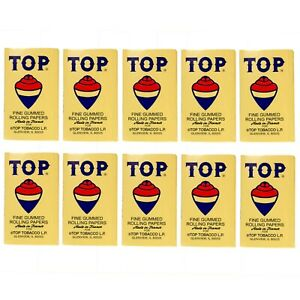 10 x TOP Cigarette Rolling Paper 100 Papers per Booklet Free Express Shipping $15.99