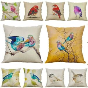 Pillow 18#x27;#x27; Decor Home Cover Sofa Throw Birds Case Cute Cushion $3.16