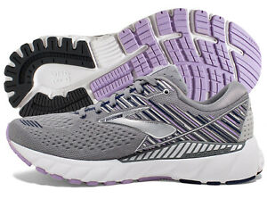 Brooks Adrenaline GTS 19 Women's Shoe Grey Lavender Navy multiple szs New In Box