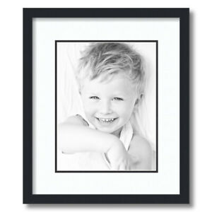 ArtToFrames Matted 14x17 Black Picture Frame with 2quot; Double Mat 10x13 Opening