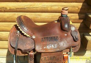 15.5 Sulphur River TX Made Western Ranch Roping Saddle also good Pleasure Trail