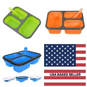 Portable lunch box Silicone Collapsible microwave Lunch Box bento lunch box