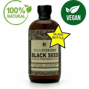 Black Seed Oil 100% Pure Organic COLD PRESSED Cumin Nigella Sativa Unrefined