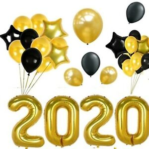 Gold 2020 Balloons Kit,New Years Eve, Graduation Party
