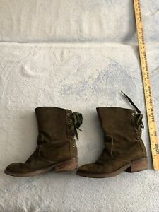 Nine West Army Green 7.5M Used Boots