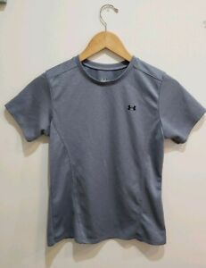 Youth Under Armour Blue Gray Shirt Size Small 100% Polyester