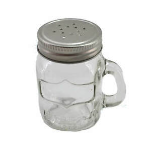 Spice Shaker Glass Screw Lid with Handle 3 1/8in x 2in Garden Barbecuing Salt